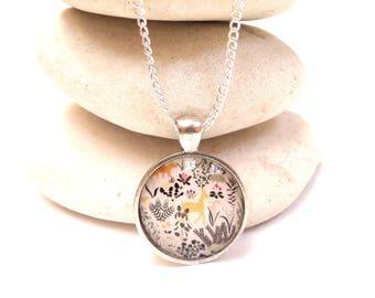 animal cabochon necklace