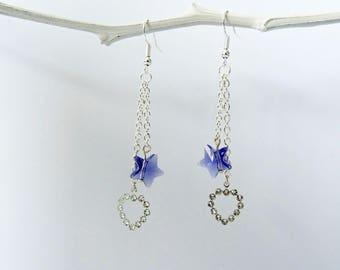 swarovski heart charm and swarovski star earrings