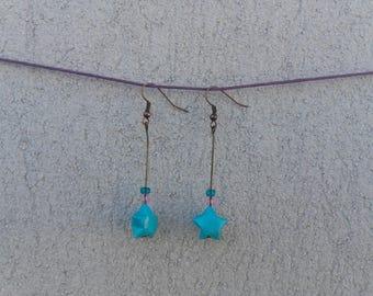 """Origami"" - Blue Star earrings"