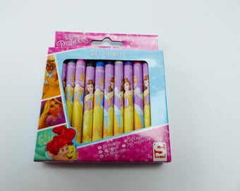 24 crayons wax princesses Disney 24 different colors
