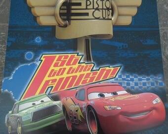 Square wall decal boy cars Cars Flash Santa Claus 29 cm