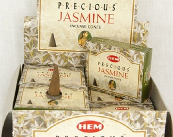 Box of 10 incense cones to scent your home Jasmine