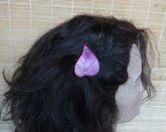 """Little Elf"" hair clip purple pink"