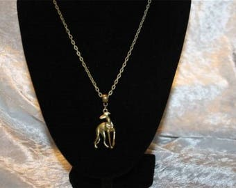 Greyhound pendant chain necklace