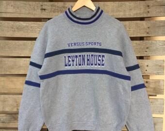 Rare! Vintage Leyton House Sweatshirt Big Spell Jumper Pullover 90s L Size Rare Item