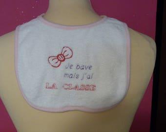 Embroidered bib I drool