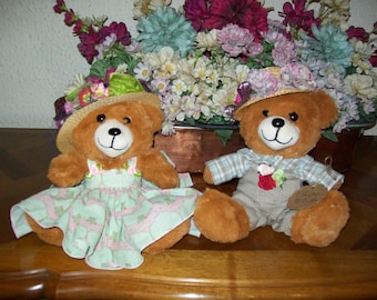 BEAR and teddy bear carriage and cherry