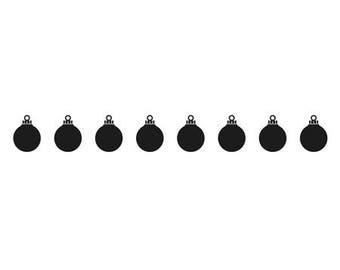 Embossing border workbook ball Christmas 15 x 2 cm_BOF005