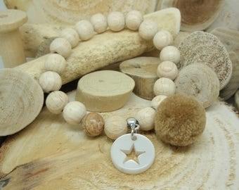 """Le bracelet """"Cosy"""" beige"""
