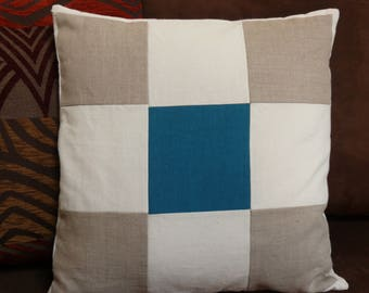 Linen, hemp and cotton pillow cover