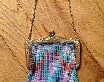 Vintage 1920's Metal Mesh Coin Purse