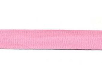 Pink cotton twill Ribbon