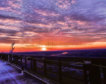 Sunset Photography, Nature Photography, Wall Art, Photography Print, Nature Print, Sunset Print, UPMC Building Rooftop, Pittsburgh PA