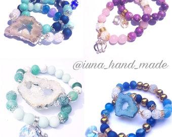 Bracelets hand made, natural stones