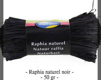 Natural raffia black 50 g