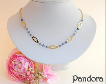 Gold plated necklace mesh Pandora