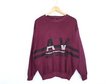 Anrico Valentino Spellout Pullover Jumper Sweatshirt