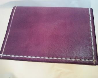 Purple simple credit card holder