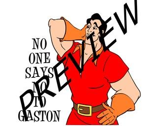 No one says No to Gaston, SVG