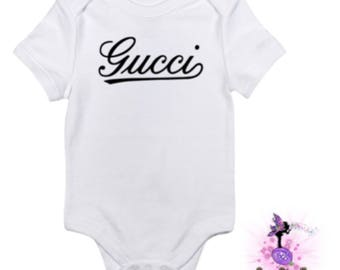 Classic Gucci Baby Onesie Babyshower Gift | First Birthday | Onesie for Boys | Onesie for Girls | Designer Inspired