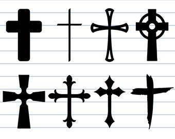 Cross svg, cross clipart, christian svg, church svg, sign silhouette, digital – svg, eps, png, dxf, pdf. Graphic Cut, Print Decal, Shirt