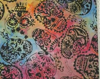 Multicolor patchwork for Halloween - 100% - 142 batik cotton fabric