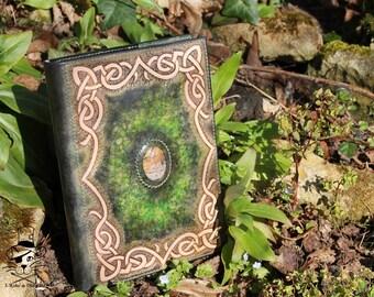 Ostara - notebook / leather grimoire