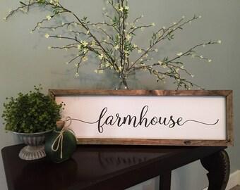 """Wood Sign- """"Farmhouse"""""""