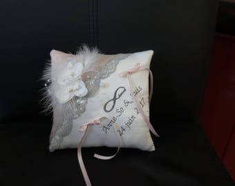 Pink and grey cushion