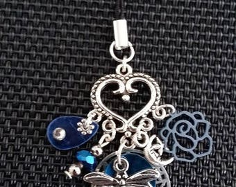 """Phone charm """"Dragonfly"""" by 6cm"""