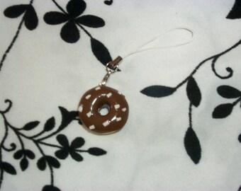 phone charm / strap model chocolate donuts