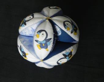 Blue ball kids penguins