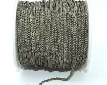 Metal chain, Nickel Free - single - Taupe - 50 cm