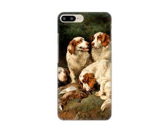 Case for iPhone 4-5-6-7, John Emms CLUMBER SPANIELS WITH THE DAY's BAG