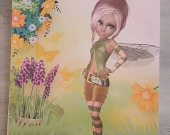 garden fairy line notebook