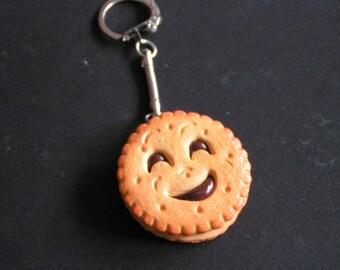 Keychain choclolat Fimo imitation BN