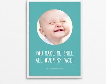 Baby Photographic Art Print - You Make Me Smile!