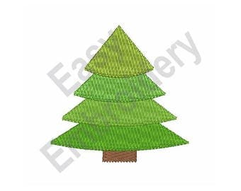 Evergreen Tree - Machine Embroidery Design