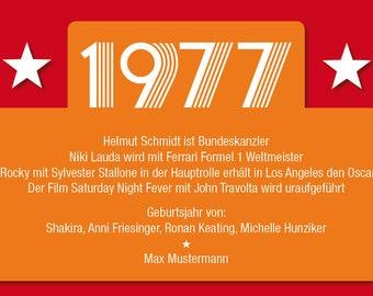 Invitation to the 40th anniversary: events