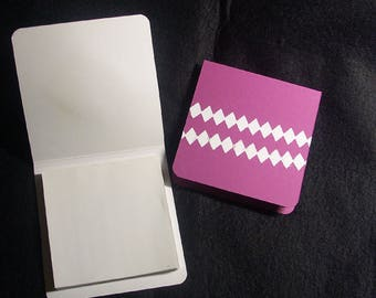 2 small blocks notes-hardback white - purple - 60 sheets - white