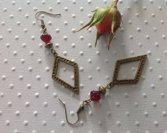 Beads and charms earrings