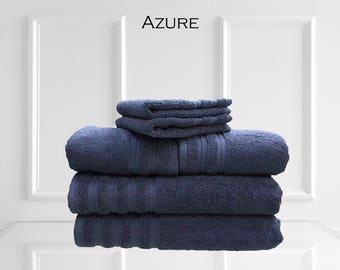 6 PCS 100% cotton, 2 ply, Brentwood towel set