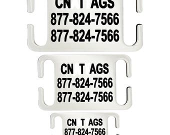 Personalized Slide On Dog Tag Engraved Staindless Steel Id Tags For Pet Collar