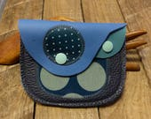 PPF S29 Porte-monnaie cuir 2 compartiments bleu marine bleu original