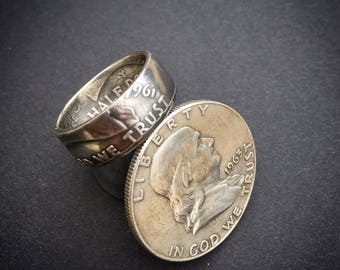 Franklin Half Dollar Ring - 90% Silver