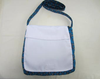 Blue mixed color shoulder bag