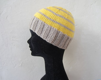 Child Hat mixed yellow and Mocha