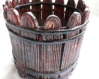 Pot Holder-Imitation Of A Wooden Basket