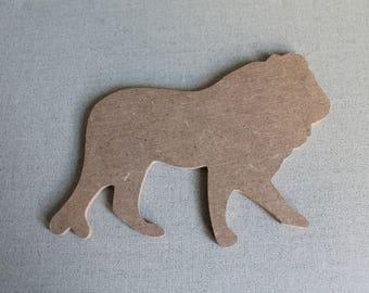 MDF Lion figurine for creative Home Deco