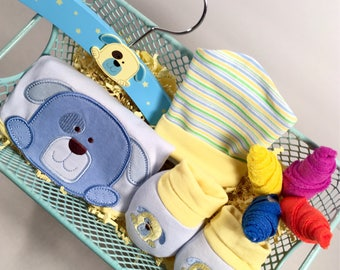 It's A Boy Gift Basket. Baby Boy Gift Basket.